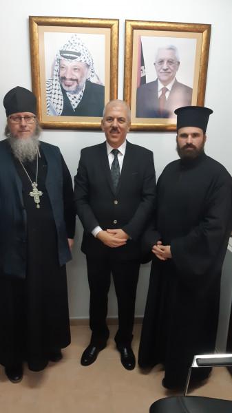 عيسى يستقبل رئيس البعثة الروسية الأرثوذكسية خارج روسيا الاتحادية