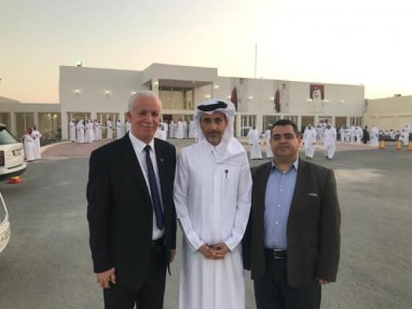 هنية وفلفل يلتقيان وزير الثقافة والشباب والرياضة القطري
