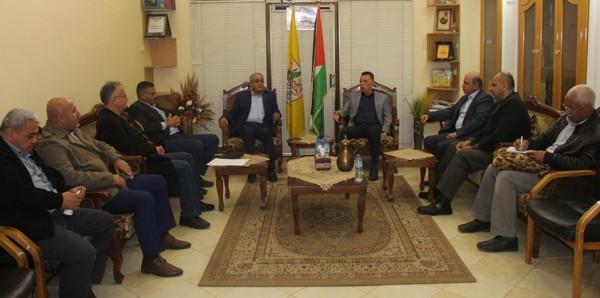 قيادة حركة فتح تعقد لقاءً مع قيادة الجبهة الشعبية بقطاع غزة