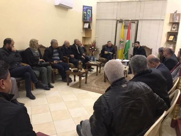 حركة فتح تواصل استعداداتها لإحياء ذكرى إنطلاقة الثورة الفلسطينية الـ55