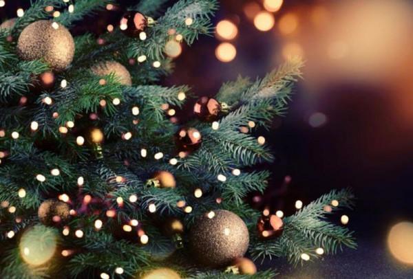 صور: الشرطة تشارك في اضاءة شجرة عيد الميلاد المجيد في نابلس