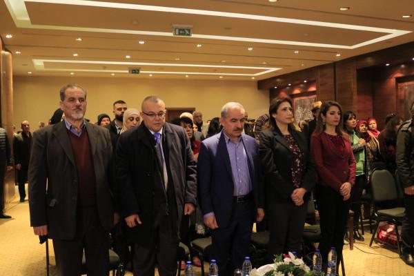 """اشتية وأبو سيف يطلقان """"مؤتمر فلسطين الكنعانية"""""""