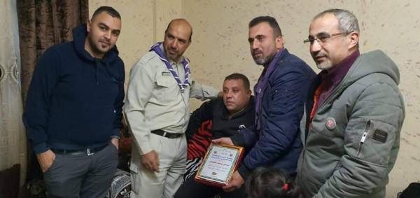 مجلس قيادة مجموعة عائدون الكشفية يهنئ سامي الطيطي بالسلامة