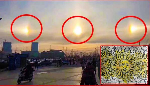 ليس خيالاً علمياً.. 3 شموس تُضيء سماء الصين  9999014278