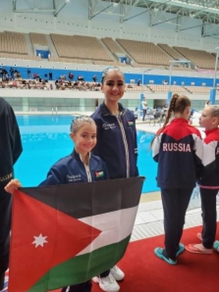 نتائج مبهرة للشقيقتين ياسمينة وريحانة ارشيدات في بطولة أذربيجان للسباحة الإيقاعية