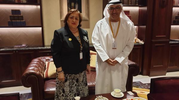 الكيلة تبحث مع نظيرها الإماراتي دعم القطاع الصحي الفلسطيني