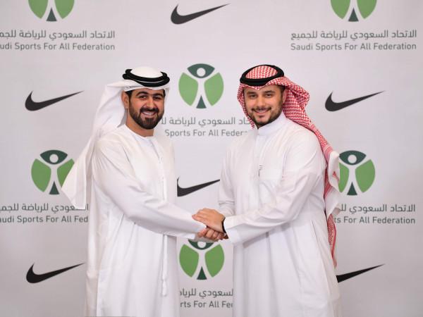 الاتحاد السعودي للرياضة للجميع وشركة نايكي يوقعان اتفاقية لتعزيز النشاط البدني بالمجتمع