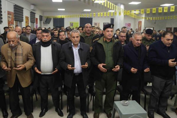 حركة فتح تكرم المتقاعدين العسكريين والمدنيين بقلقيلية