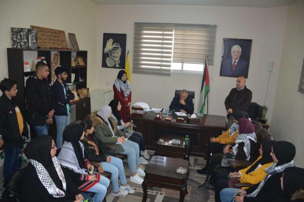 حركة فتح اقليم قلقيلية تخرج الطلبة المشاركين في معسكر انطلاقة الكرامة