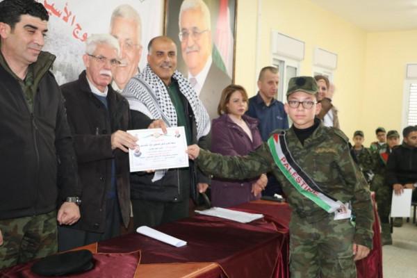 """فتح في نابلس تخرج معسكر الانطلاقة الخامس """"فوج الأسير ياسر أبو بكر"""""""
