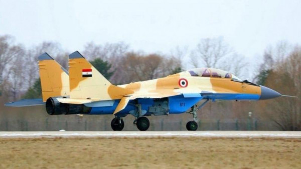 سقوط طائرة مقاتلة مصرية ومقتل قائدها