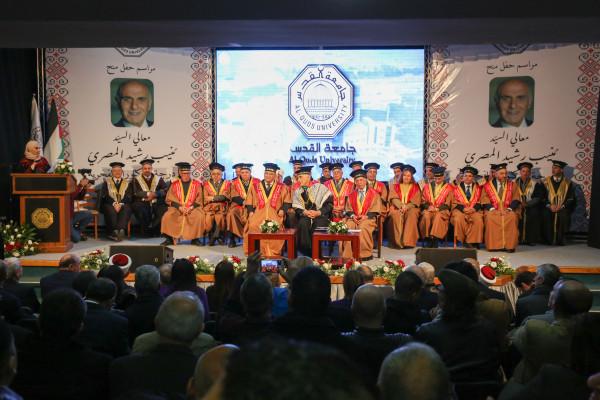 جامعة القدس تمنح رجل الأقتصاد منيب رشيد المصري الدكتوراة الفخرية بالعلوم الإنسانية