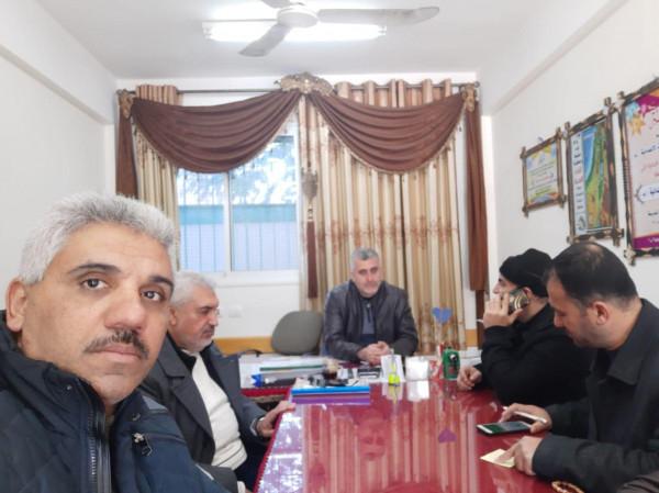 اللجنة الشعبية للاجئين بالنصيرات تنفذ جولة تفقدية لمدارس المخيم