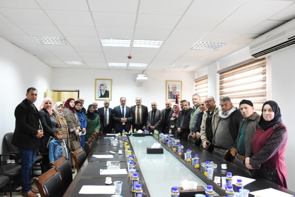 اللواء كميل يلتقي اعضاء المجلس الاستشاري الثقافي في محافظة سلفيت