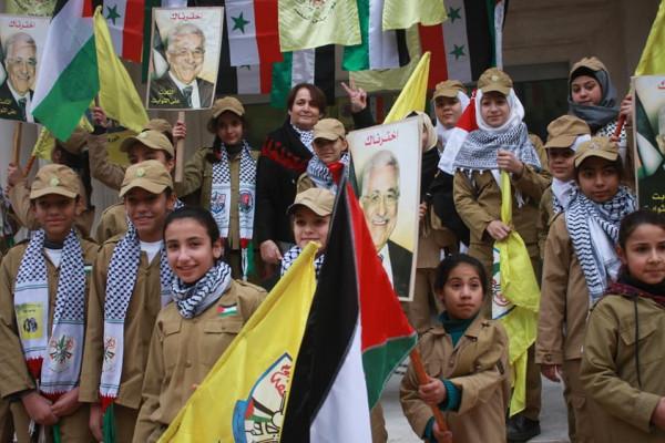 احتفال مركزي لإقليم سورية لحركة فتح وسط دمشق بمناسبة الانطلاقة الـ 55