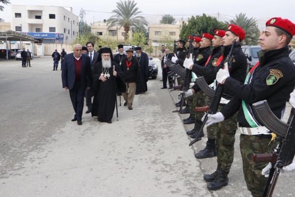 استقبال رسمي وشعبي حاشد للبطريرك ثيوفيلوس احتفالاً بعيد الغطاس