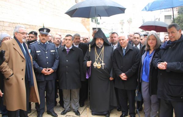 الشرطة تُؤمن وتُشارك باستقبال غبطة بطريرك طائفة الأرمن في بيت لحم