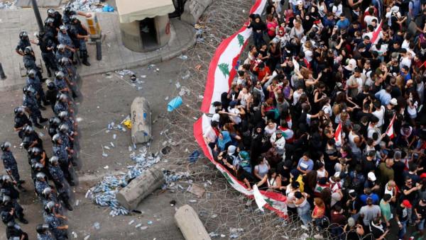 """مظاهرات لبنان: ليلة ثانية من الاشتباكات العنيفة في """"أسبوع الغضب"""""""