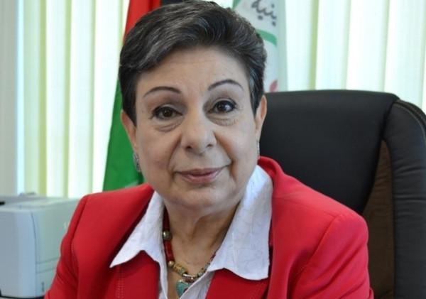 عشراوي: الخطة الأمريكية الإسرائيلية تُريد تحويل فلسطين لتجمعات سكانية