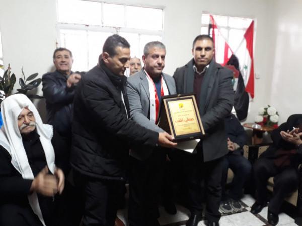 هيئة الأسرى تُكرم المحرر السوري صدقي المقت بمناسبة الافراج عنه