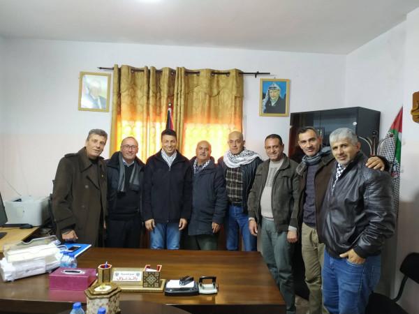تنمية جنين تلتقي وفد اللجنة الشعبية لشؤون اللاجئين والشيخ خليفة