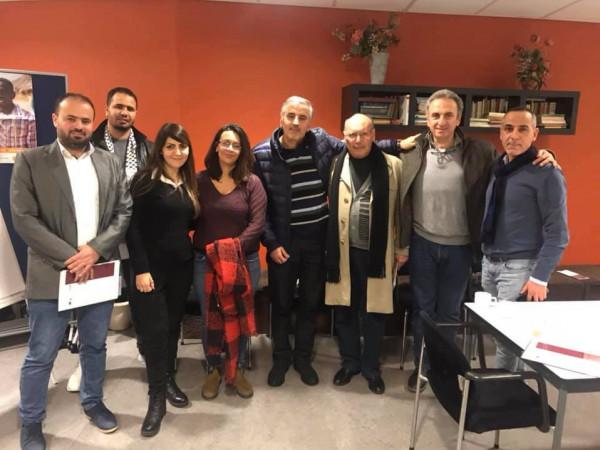 """الجالية الفلسطينية في هولندا تلتقي وفد جمعية """"روزنا"""""""