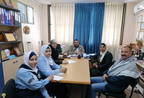 قلقيلية: مدرسة العمرية تطلق مبادرة مجتمعية بعنوان جسور التواصل