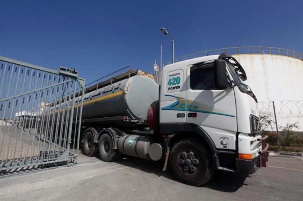 دخول 10 شاحنات غاز مصري للقطاع ومالية غزة تُحدد الأسعار
