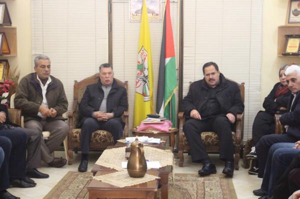 قيادة حركة فتح بغزة تجتمع بحضور عضوي اللجنة المركزية حلس وصيدم