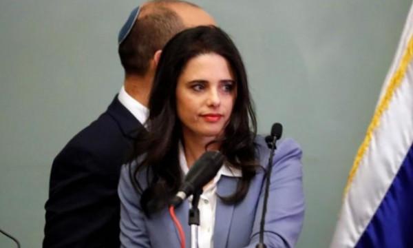 أييليت شاكيد: الدولة الفلسطينية أمر خطير بالنسبة إسرائيل ولن نسمح بحدوث ذلك
