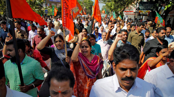 مئات الآلاف من الهنود يشاركون في احتجاجات على قانون الجنسية