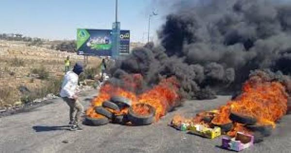إصابة شاب في مواجهات مع الاحتلال على مدخل البيرة الشمالي والخليل