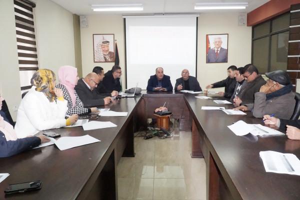 بلدية جنين تناقش الخطط التنفيذية لعام 2020