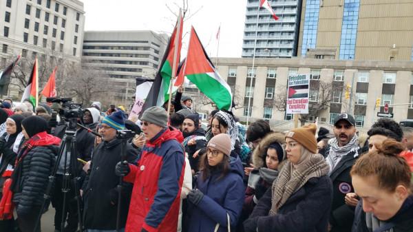 مظاهرة للبيت الفلسطيني ضد (صفقة القرن) في كندا