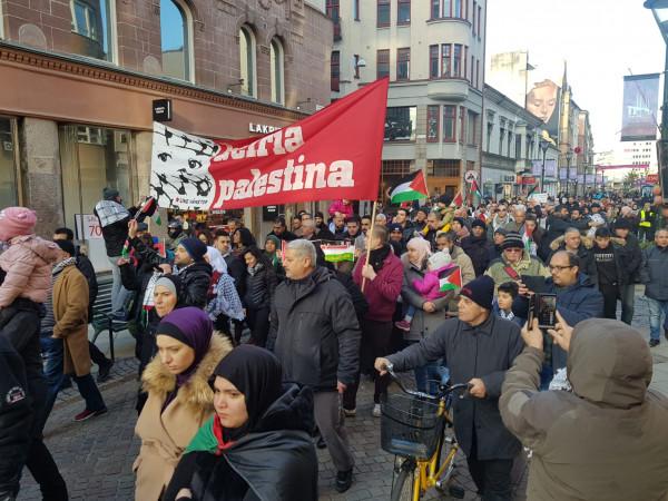 """مظاهرة في """"مالمو"""" ضد (صفقة القرن)"""