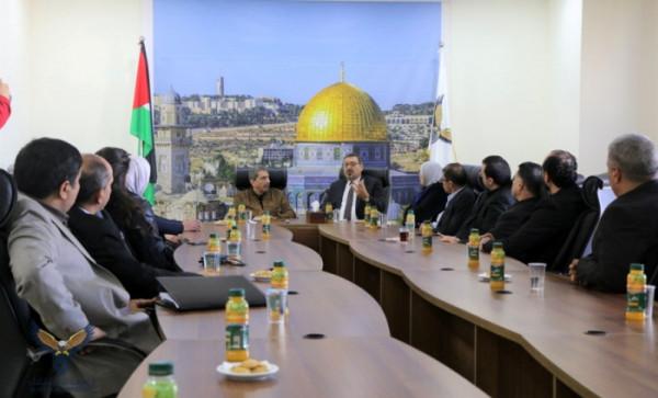 الطيراوي يستقبل سفير دولة فلسطين لدى أوكرانيا هاشم الدجاني