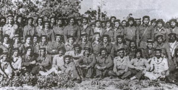 صورة نادرة لضباط الجيش السعودي المشاركين في الدفاع عن فلسطين