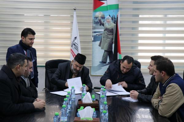 بلدية الخليل توقع اتفاقيات مع مؤسسة العمل ضد الجوع