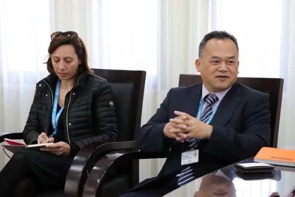سليمان يبحث التعاون مع ممثل مكتب الأمم المتحدة لخدمات المشاريع بالقدس