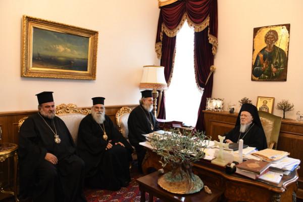 وفد بطريركية القدس يزور البطريرك المسكوني قبيل لقاء عمان