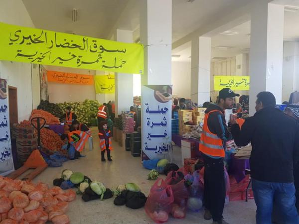 600 عائلة فقيرة تستفيد من فعاليات السوق الخيري في يطا