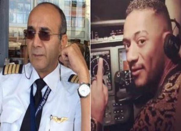الطيار المفصول بصحبة عمرو دياب ودينا الشربيني داخل طائرة أيضاً