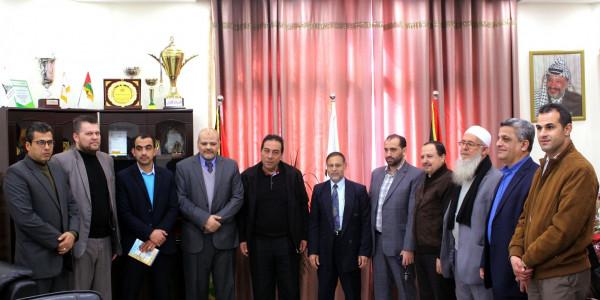 جامعة الأقصى تستقبل وفد من كلية الدراسات المتوسطة بجامعة الأزهر
