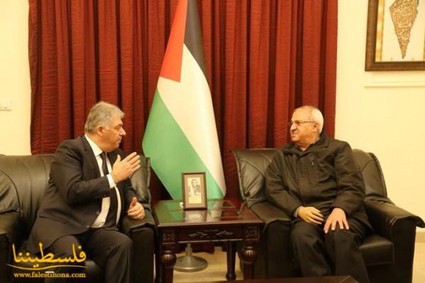 دبور يلتقي الامين العام المساعد للجبهة الشعبية طلال ناجي
