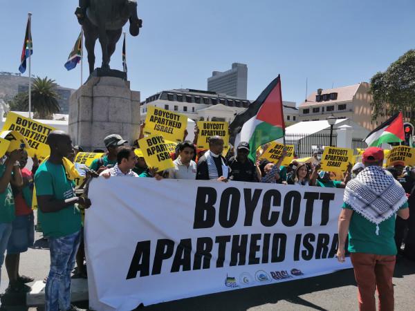وقفة تضامنية مع الشعب الفلسطيني رفضا لصفقة القرن في جنوب افريقيا