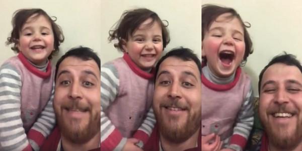أب سوري يحول صوت القنابل المُرعب إلى ضحكات ليحمي ابنته