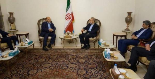 وفد من حماس يبحث مع لاريجاني المستجدات السياسية في فلسطين