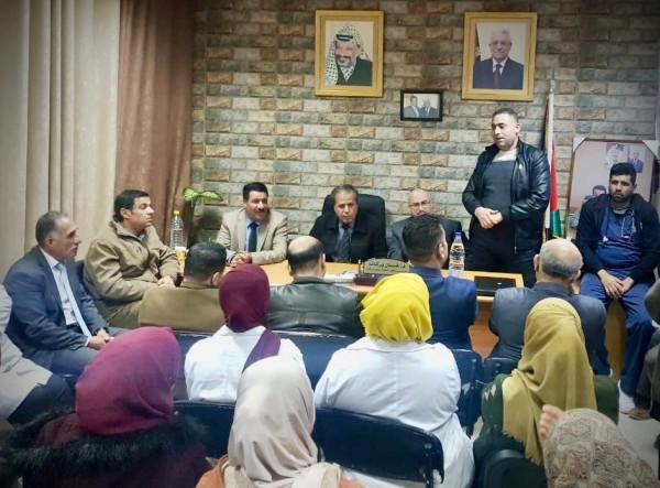 حركة فتح ومستشفى سلفيت يكّرمان سليمان سمارة لانتهاء عملة في المستشفى