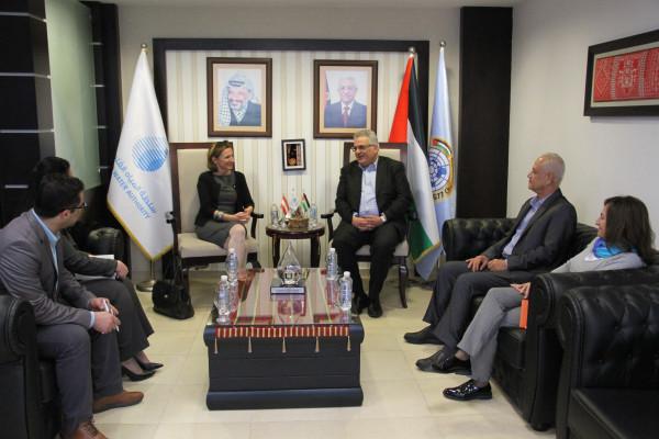الوزير غنيم يبحث مع ممثل حكومة النمسا تعزيز آفاق التعاون