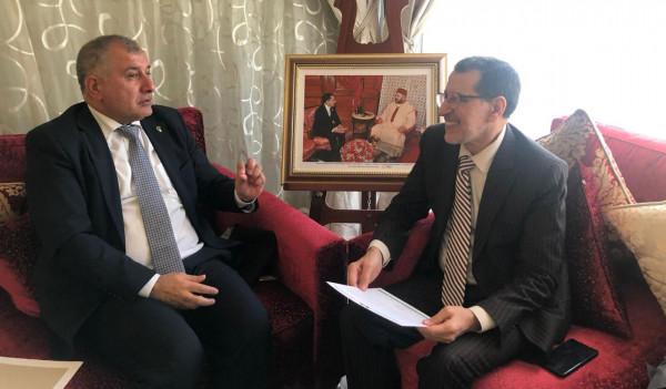وفد مؤتمر فلسطينيي أوروبا يصل المغرب ويلتقي رئيس الحكومة